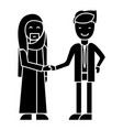 arab business partnership businessmen handshak vector image