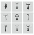 black tie icons set vector image