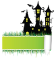castle with tearing paper vector image