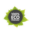 eco friendly bio badge banners label with green vector image