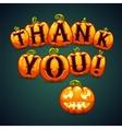 Halloween Pumpkin Says Thank You vector image