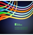 Rainbow lines over blue background vector image