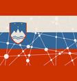 slovenia flag concept vector image