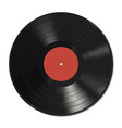 Vinyl record template vector image