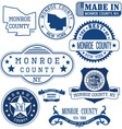 Monroe county New York vector image