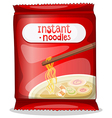 A pack of an instant noodles vector image vector image