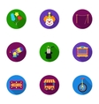 Circus set icons in flat style Big collection of vector image