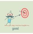 man shoots at a target vector image
