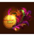 dark glowing floral ornament vector image