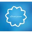 Flower on blurred background vector image