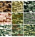 9 Set of camouflage pattern vector image