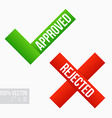 Approved and Rejected Marks vector image