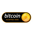 bitcoin logo of crypto currency with an vector image