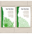 Cards with Green Round Pattern vector image