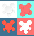 colored different circles template vector image