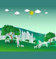 concept of eco with nature and building vector image