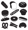 Fresh Breads and Bakery Set vector image