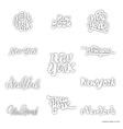 New York - hand drawn dotwork calligraphy and vector image