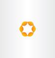 orange circle star icon vector image