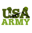 United States Army Military text logo American vector image