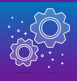 white transparent cogwheels or gears on blue vector image