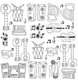 Doodle of music theme art vector image