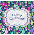 Christmas colorful greeting card vector image