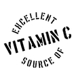 Excellent source of vitamin C stamp vector image