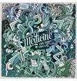 cartoon cute doodles hand drawn medical vector image