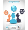 INFOGRAPHICS DEMOGRAPHICS PEOPLE RANKING vector image vector image