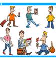 men characters set cartoon vector image