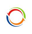 circle arrow abstract color logo vector image