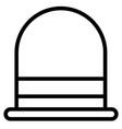 bowler icon vector image