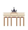 brandenburg gate icon vector image