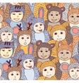 Children carnival costume animals seamless pattern vector image