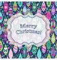 Christmas colorful greeting card vector image