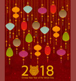 colorful chinese paper street lanterns background vector image