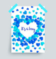 its a boy blue baby shower vector image