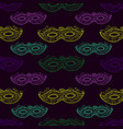 seamless festive pattern with masks doodle style vector image