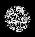 vintage black and white floral crown summer vector image