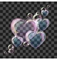 Shiny bubble heart vector image vector image