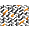 black white and orange maze labyrinth endless vector image