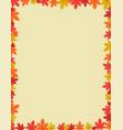 autumn border design vector image vector image