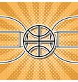 basketball symbol vector image