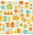 Coffee and tea pattern vector image