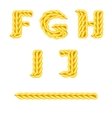 knitted alphabet F J vector image