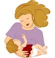 breastfeeding mother vector image vector image
