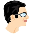Person men in profile vector image