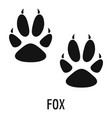 fox step icon simple style vector image