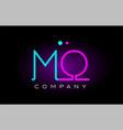 neon lights alphabet mo m o letter logo icon vector image